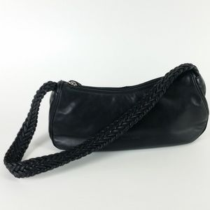 Paolo Masi Black Leather Shoulder Bag